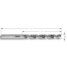 Спиральное сверло 1,00 мм, HSSE- Co8 DIN 338 тип VA
