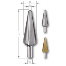 Конусное сверло HSS №1, 3-14 мм